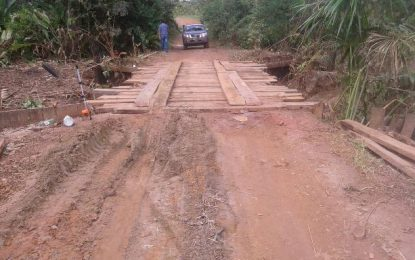 Yamatwao Bridge temporarily repaired