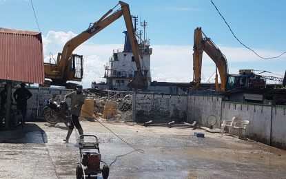 Remedial work conducted at Wakenaam sea defence – CDC monitoring situation