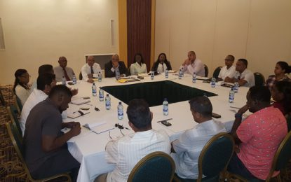 Minister Trotman, Board of the GGB meet licenced gold dealers on proposed amendments to the Guyana Gold Board Act and Regulations