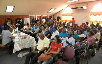 Exceptional turn out at Berbice e-Agriculture forum- Min. Hughes