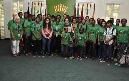 Saint Lucian Secondary School students tour State House