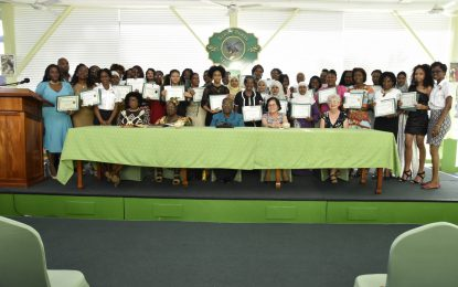 Thirty-four women complete First Lady's Care for the Elderly programme