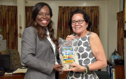 First Lady receives courtesy call from CEO of Global Seafood Distributors
