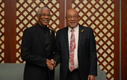 Presidents Granger and Bouterse discuss new developments in CARICOM and South America