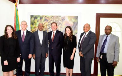 President Granger receives courtesy call from Exxon Mobil's Senior Vice President