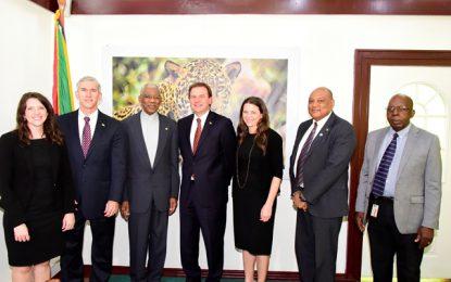 President Granger receives courtesy call from Exxon Mobil's Senior Vice President