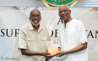 President calls for history, as a subject, to be given its rightful place in Guyana's education system  -at Professor Winston McGowan's book launch