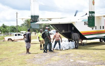 CDC continues distribution to Kwakwani flood victims