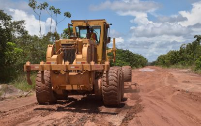 Maintenance works on Linden/Ituni/Kwakwani road begin