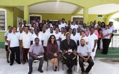 Region Three health officials participate in sensitisation session