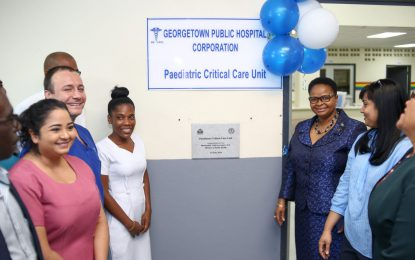 GPHC opens critical paediatric care unit