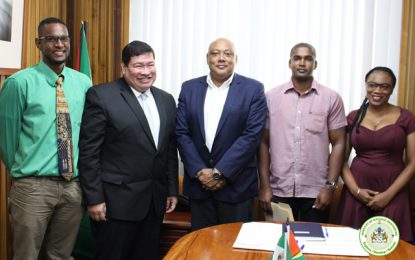 Three (3) Guyanese students awarded scholarships to pursue Masters Degrees through collaboration between Guyana and Mexico.