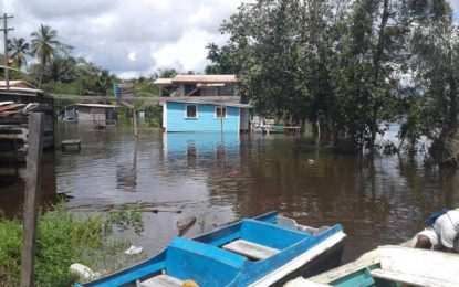 Kwakwani water recedes four inches