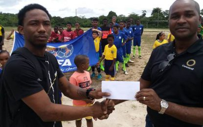 Mil Ballers FC, Lazio FC and River View FC receive prize money from GFF