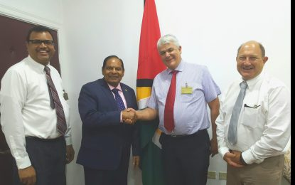 PM Nagamootoo receives courtesy call from Medical Director of ISOS