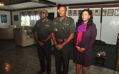 Two GDF officers elevated to the rank of colonel