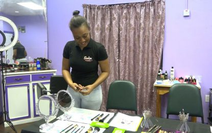 Small Business in Focus…Mosa's canvas is her client's face