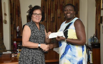 STEM Guyana receives donation from US-based youth organisation