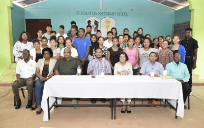 First Lady, Mrs. Sandra Granger takes ICT Workshop to Lethem