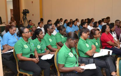 Women being educated on REDD+, to play a greater role