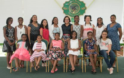First Lady meets with Trinidad Girl Guides