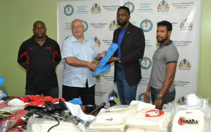 Sport Department donates to local Karate Federation
