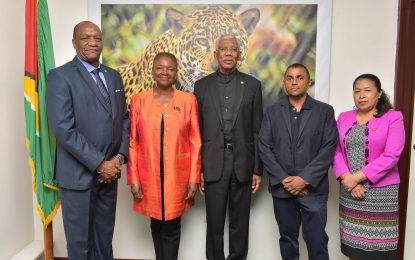President Granger meet with Baroness Amos, Lord Waheed Alli