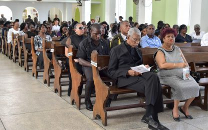 President attends home-going service for former Mayor of Georgetown