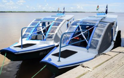 Two Water Taxis commissioned in Region Six
