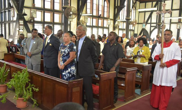 President Granger attends church service to commemorate 175th Anniversary of Georgetown
