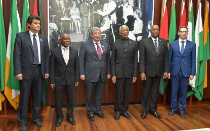 Russian delegation meets with President Granger