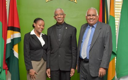 President Granger swears in Registrar for Public Service Appellate Tribunal