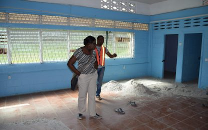 Min. Henry conducts site visits to assess readiness of schools for new term