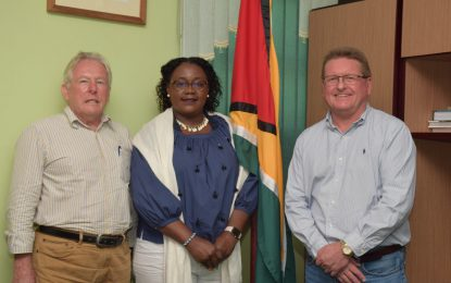 First Bauxite Executives pays courtesy call on Minister Broomes