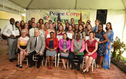 33 new Peace Corps Volunteers Sworn in