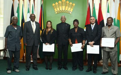 Public service must be insulated from political interference – President Granger at swearing-in of Public Service Commission