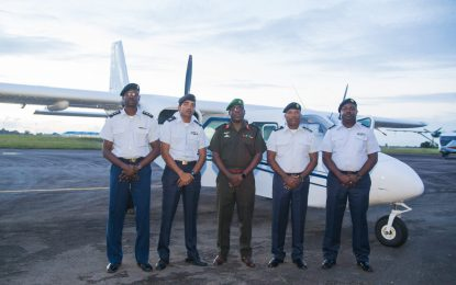 Defence Force Islanders arrive in Guyana