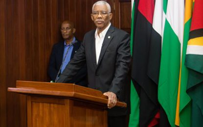 Address of His Excellency Brigadier David Granger, President of the Cooperative Republic of Guyana at the swearing-in ceremony of the Police Complaints Authority