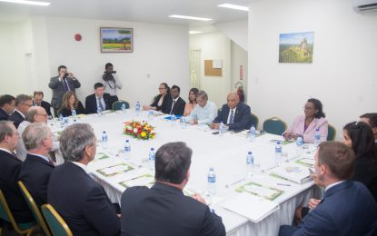 Min. Trotman and team meet with high-level US delegation