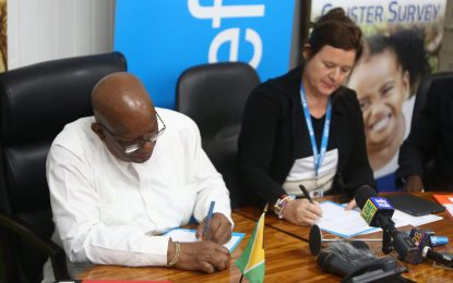 Government, UNICEF signs MOU for MICS 6