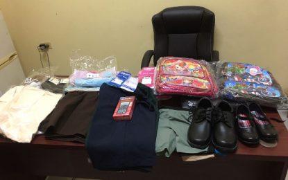 Underprivileged children benefit from donated school supplies