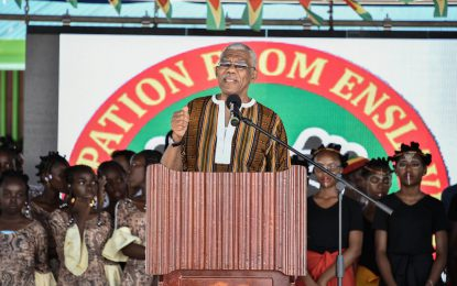 'We must become economically emancipated' – President Granger at 2018 Emancipation celebrations