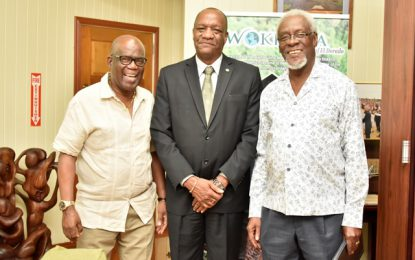 Minister Harmon meets with former Jamaican Prime Minister, PJ Patterson
