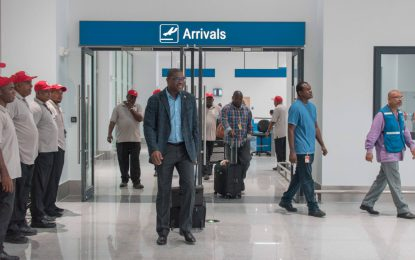 Trial-run of new CJIA Arrival Terminal gets thumbs-up from Min. Patterson