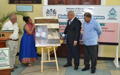 National Trust launches 2nd edition of Akawaio Basketry Techniques
