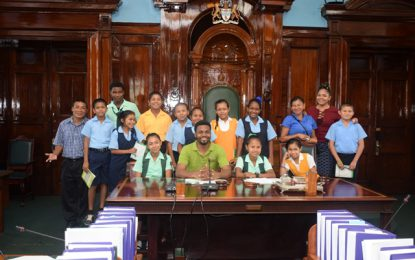 Hinterland Schools tour concludes with visit to National Library, Parliament