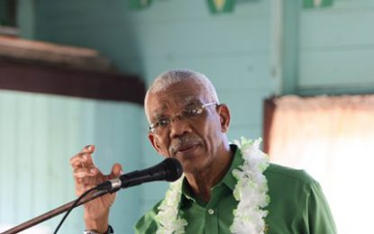 President encourages East Bank Berbice residents to participate in LGE