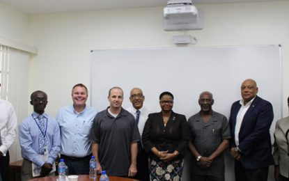 Minister Trotman and Government Officials meet second team of PAHO mercury inspection engineers