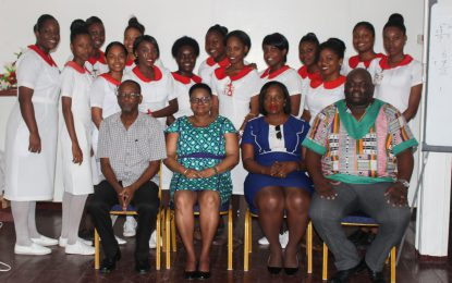 18 Region Six midwives in training