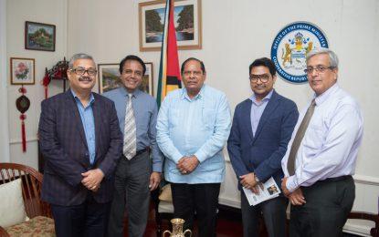 Guyana's Honorary Consul in India pays courtesy call on PM Nagamootoo